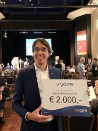 Sportarts Victor Niemeijer wint de proefschriftprijs van de Vereniging voor Sportgeneeskunde Nederland